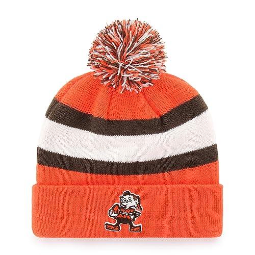 half off 0dad7 b9de3 OTS NFL Adult Men s NFL Rush Down Cuff Knit Cap with Pom