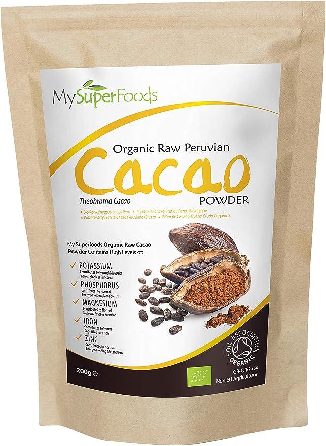 Cacao Orgánico Crudo en Polvo 500g, Fuente Natural de Potasio ...