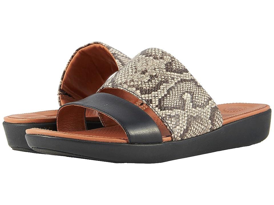 FitFlop Delta Slide Sandals (Taupe Snake/Black) Women