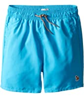 Paul Smith Junior - Turquoise Swim Shorts with Dino Appearing When Wet (Big Kids)