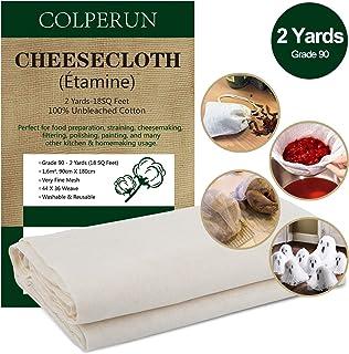 Colperun Passiertuch, 90 Grad, 1,6m², 90cm X 180cm, Gaze Stoff 100% Ungebleicht Musselin..