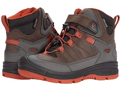 KEEN Kids Redwood Mid WP (Toddler/Little Kid) (Coffee Bean/Picante) Boy