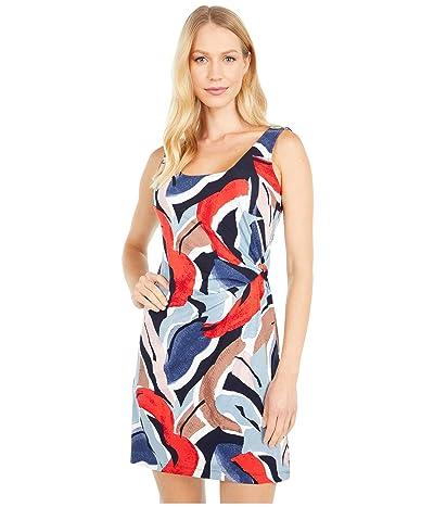 NIC+ZOE Petite Americana Dress (Red Multi) Women