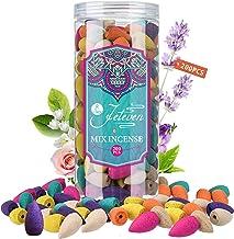 Jeteven 200 Pcs Backflow Incense Cones Waterfall Incense, 8 Mixed Natural Incenses Cones Sandalwood/Green Tea/Jasmine/Lave...