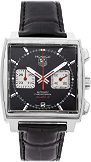 Tag Heuer Monaco Mechanical (Automatic) Black Dial Mens Watch CAW2114.FC6177 (Certified Pre-Owned)