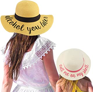 C.C Womens Mommy and Me Girls Sayings Summer Beach Pool Floppy Dress Sun Hat