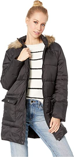 Moon Walker Nylon Puffer Jacket with Fur-Lined Hood