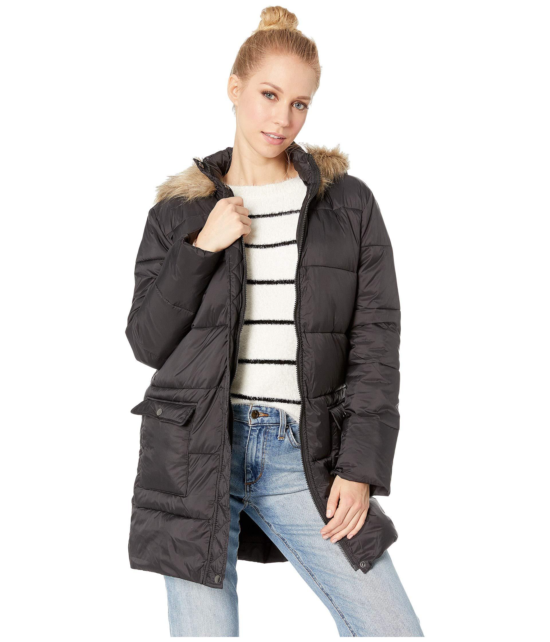 Hood Puffer Black Jacket lined Moon Nylon Jack Bb By Walker Dakota With Fur UYqnwPxfSn