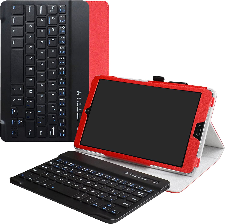 MediaPad M5 8.4 Bluetooth Teclado Funda,LiuShan Detachable Wireless Bluetooth Teclado (Teclado QWERTY Formato inglés) PU Cuero con Soporte Caso para ...