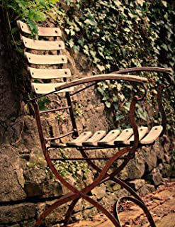 Notebook: Chair seating furniture outdoor out ivy fern garden design gardening outdoor relaxing relax peace