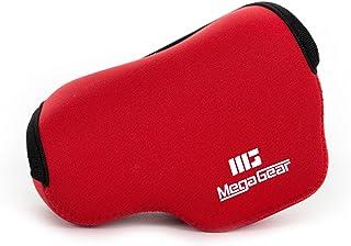 MegaGear Ultra Light Neoprene Bolsa para Cámaras on Mosquetón para Sony NEX-5TL Sony NEX-5R Sony NEX-3N con Sony SELP1650 Sony A5000 Sony A5100 16-50mm (Rojo)