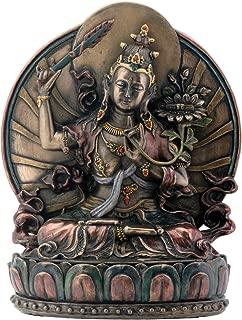 Manjushri Sitting On Lotus Buddhism Display Statue