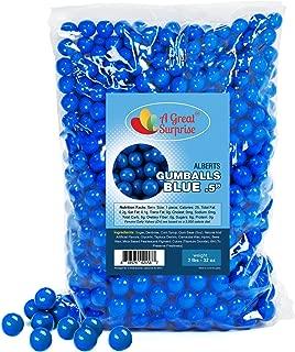 Dark Blue Gumballs for Candy Buffet - Apx. 620 Gumballs - 2 Pounds - Blue Candy - Mini Gumballs 1/2 Inch, Bulk Candy 2 LB