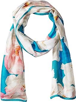 Calvin Klein - Pastel Floral Silk Scarf