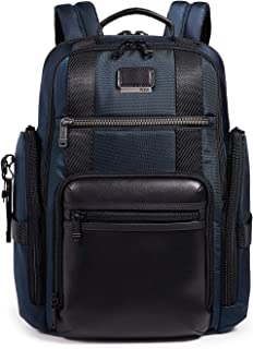 TUMI - Alpha Bravo Sheppard Deluxe Brief Pack Laptop Backpack - 15 Inch Computer Bag for Men and Women - Navy