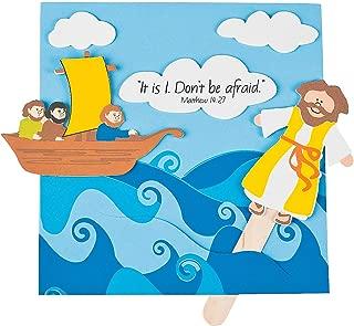 Fun Express - Jesus Walks On Water CK- 12 - Craft Kits - Party Craft Kits - Toys - 12 Pieces