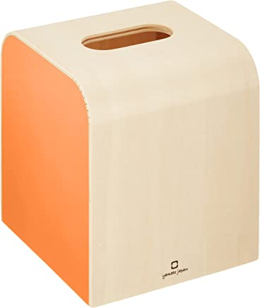 ヤマト工芸 ティッシュケース オレンジ ミニ_トイレットペーパーホルダー_日本でい_YK08-103