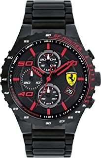 Ferrari Mens Quartz Watch, Chronograph Display and Stainless Steel Strap 830361