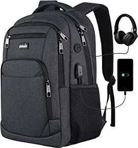 Backpack for Men and Women,School Backpack for Teens,17.3 inch Laptop Backpack with USB Charging port for Business College Travel