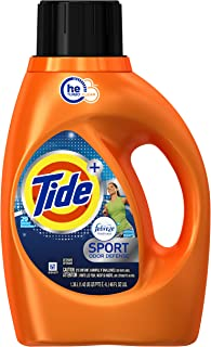 Tide Plus Febreze HE Liquid Laundry Detergent, Sport Active Fresh, 1.36L