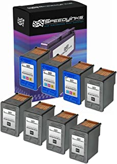 Speedy Inks Remanufactured Ink Cartridge Replacement for HP 21 and HP 22 (5 Black and 3 Color, 8-Pack)