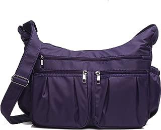 Crossbody Bags for Women Multi Pocket Shoulder Bag Waterproof Nylon Travel Purses and Handbags Lightweight Work Bag