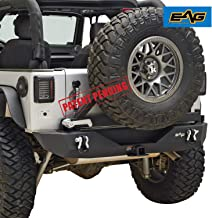 EAG Rear Bumper with Assembled Tire Carrier Fit for 07-18 Jeep Wrangler JK