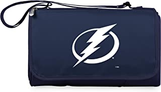 PICNIC TIME Unisex NHL Tampa Bay Lightning Outdoor Picnic Blanket Tote, Navy 820-00-138-264-10, Navy
