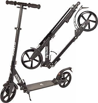 Apollo XXL Wheel Scooter 200 mm - Spectre Pro es un City Scooter de Lujo con suspensión Doble, City Roller XXL Plegable y Ajustable en Altura, Grande ...