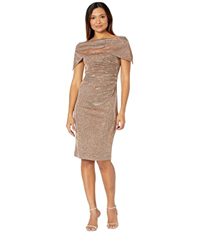 Vince Camuto Off-the-Shoulder Midi with Oversized Collar (Bronze) Women