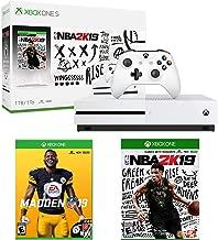 Microsoft Xbox One S 1TB NBA 2K19 Edition with Madden NFL 19 Bundle