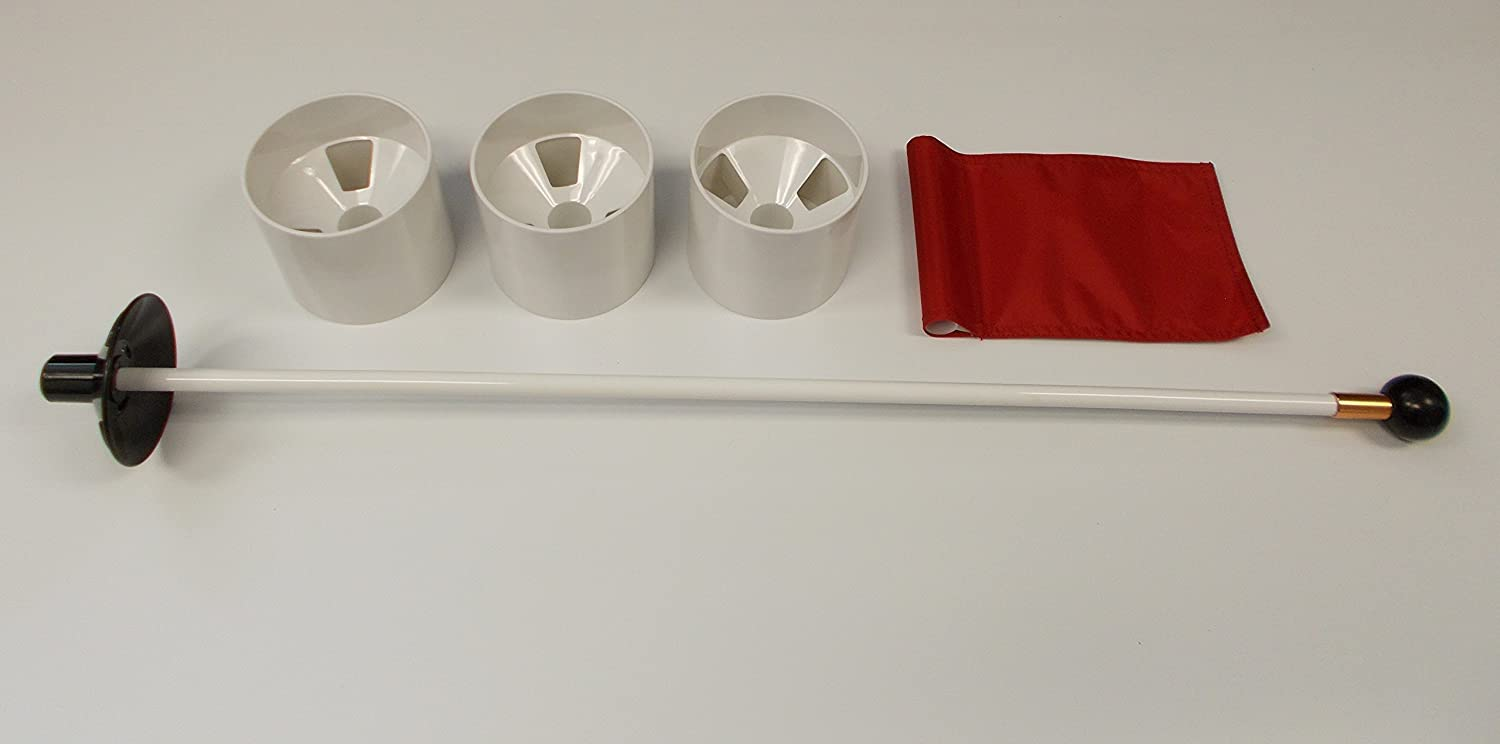 Practice Putting Green  Natural or Synthetic  Accessory Kit  (3) 4  Plastic Cups & RED Marker Flag
