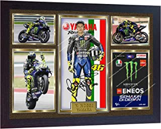 S&E DESING New Valentino Rossi Signed Autographed Print Photo Framed