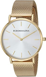 BCBGMAXAZRIA Women's Japanese-Quartz Stainless Steel Case Stainless-Steel Strap Casual Watch