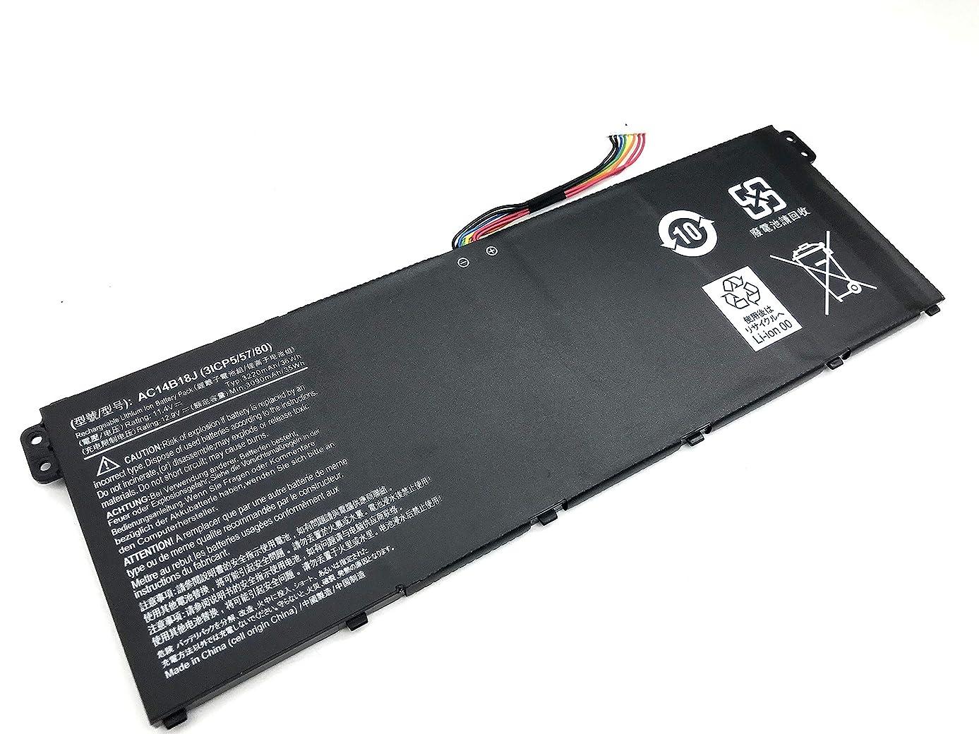 Yafda AC14B18J New Laptop Battery for Acer Aspire ES1-511 ES1-512 Aspire E3-111 E3-112 E3-112M Aspire V3-111 V5-122 V5-132 Chromebook CB3-111 Chromebook CB5-311 4ICP5/57/80 11.4V 3220mAh /36Wh