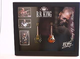 rgm8826BB King Guitarra en miniatura recogida en el marco de Shadowbox