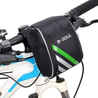 Wommty Bicicleta triangular para bicicleta con marco de tubo delantero bolsa frontal para bicicleta con bolsillo para botella de agua bolsa de sill/ín con rayas reflectantes