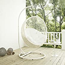 white egg chair swing