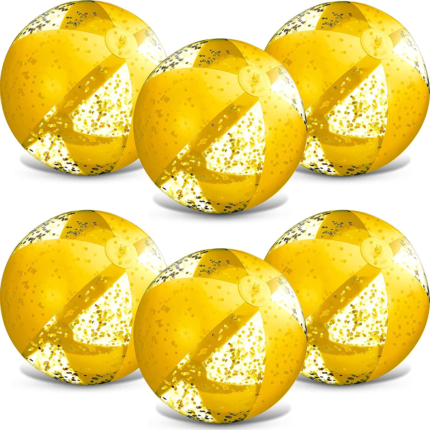 6 Pack 16 Inch Max 52% OFF Inflatable Confetti Popular Glitter Beach Ball