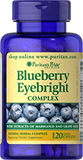 Puritan's Pride Blueberry Eyebright Complex, 120 Caplets