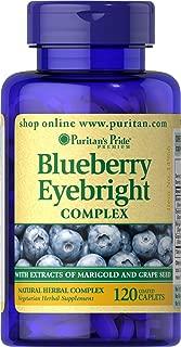 Puritan's Pride Blueberry Eyebright Complex-120 Caplets