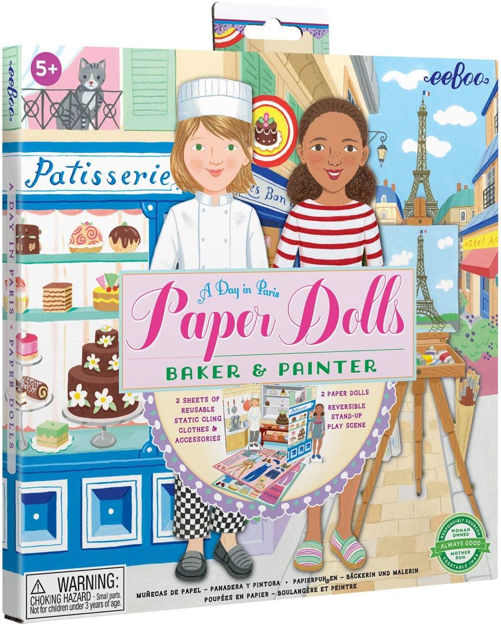 eeBoo Baker and Brand Cheap Sale Venue Painter Set Dolls Outlet sale feature Paper Reusable