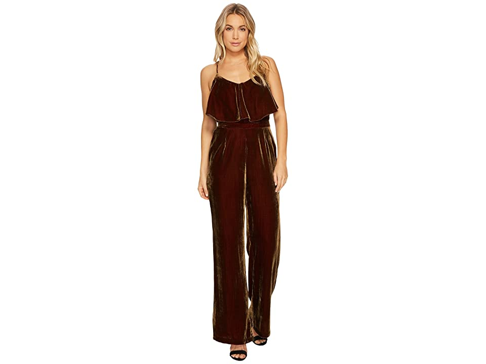 Image of Adelyn Rae Elle Jumpsuit (Chestnut) Women's Jumpsuit & Rompers One Piece