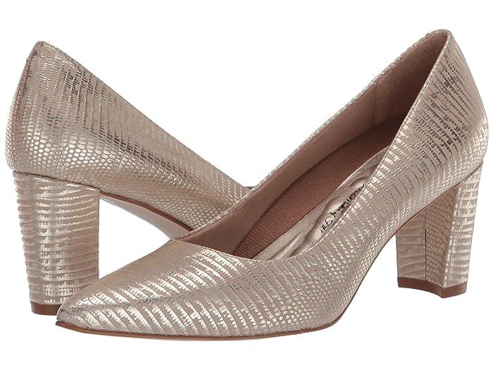 Walking Cradles  Samantha (New Gold Antique Metallic Lizard Print Leather) Womens  Shoes