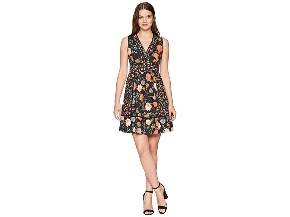 Kate Spade New York Blossom Fit and Flare Dress (Black) Women