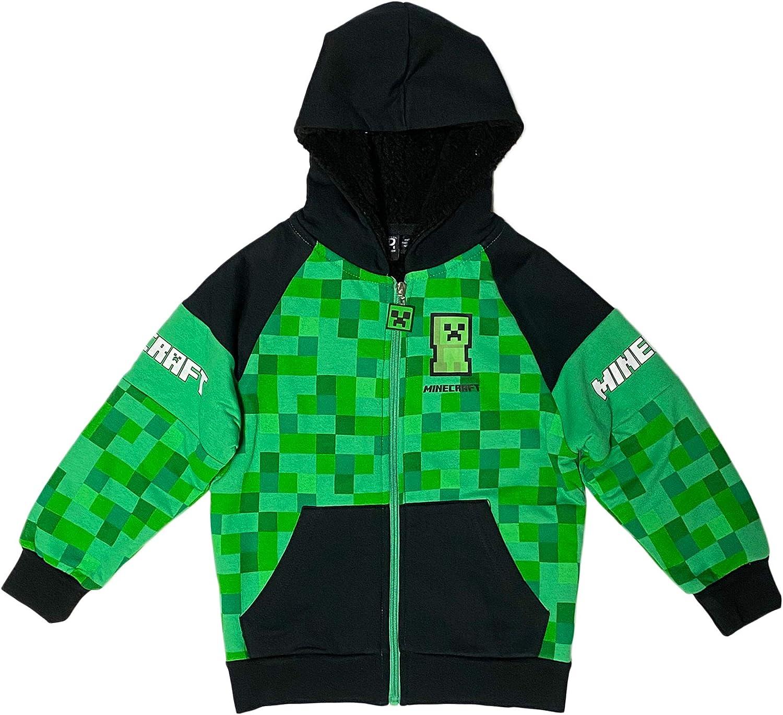 Minecraft Creeper Boys Sherpa Hoodie Fleece 35% Max 83% OFF OFF