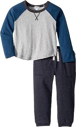 Long Sleeve Raglan Set (Little Kids/Big Kids)