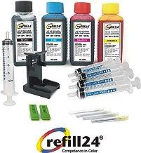Kit de Recarga para Cartuchos de Tinta HP 301, 301 XL Negro y Color, Incluye Clip y Accesorios + 400 ML Tinta