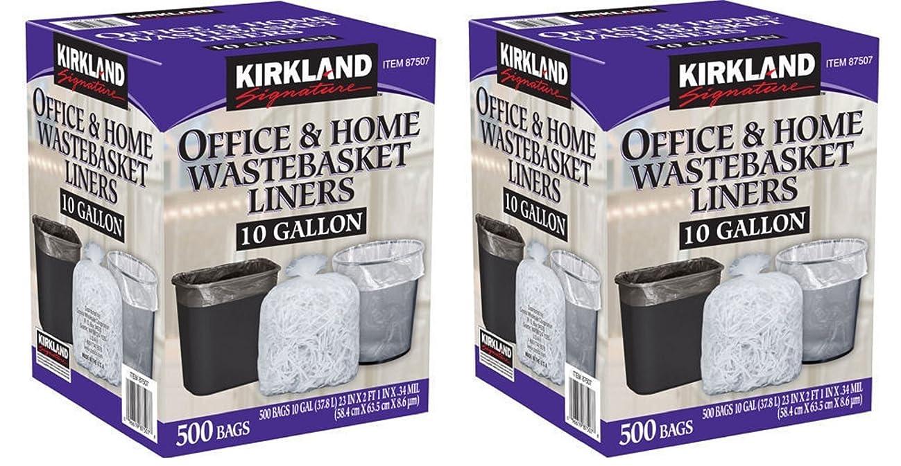 Kirkland Signature 10 Gallon Clear Wastebasket Liner