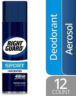 Right Guard Sport Antiperspirant Deodorant Aerosol Spray, Unscented, 6 Ounce (Pack of 12)
